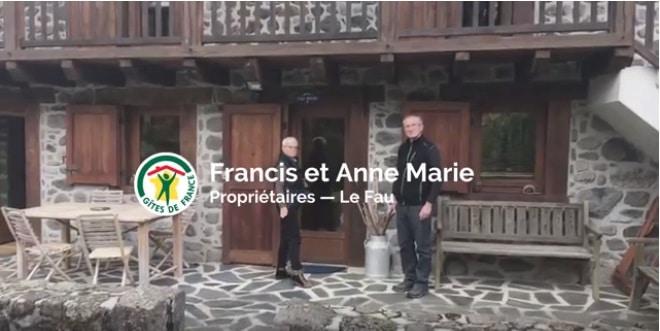 Francis et Anne-Marie propriétaires d'un gîte au Fau